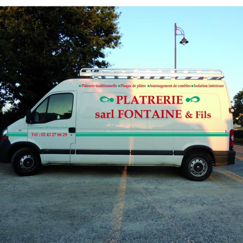 Platrerie FONTAINE & Fils à Monbizot (Sarthe)<br>